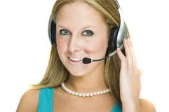 Customer service girl stock photos