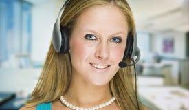Customer service girl stock image