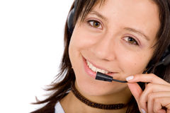 Customer service girl Royalty Free Stock Image