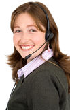Customer service girl Stock Images
