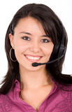 Customer service girl Royalty Free Stock Photos