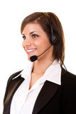 Customer service girl with headset Royalty Free Stock Photos