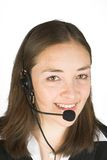 Customer service girl smiling Royalty Free Stock Image