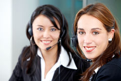 Customer service girls Stock Photos