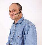 Customer service guy Stock Photography
