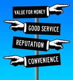 Customer service. Having a decent customer service Royalty Free Stock Photo