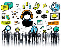 Customer Service Help Business Service Solution Support Concept Royalty Free Stock Photos