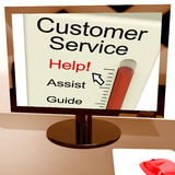 Customer Service Help Meter Shows Assistance And Support Online Stock Image