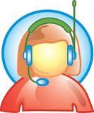 Customer service icon. Icon for customer service or speak to a live person Stock Images