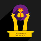 Customer service  icon design Stock Image