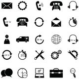 Customer service icon set. The customer service icon set stock illustration