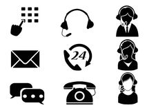 Customer service icon set. Isolated customer service icon set from white background royalty free illustration