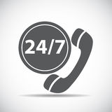 Customer service 24/7 Icon Vector Illustration Stock Photography