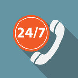 Customer service 24/7 Icon Vector Illustration Stock Image