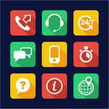 Customer Service Icons Flat Design Royalty Free Stock Photography
