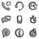 Customer Service Icons Freehand 2 Color Royalty Free Stock Photos