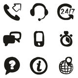 Customer Service Icons Freehand Fill Royalty Free Stock Photo