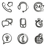 Customer Service Icons Freehand Royalty Free Stock Image