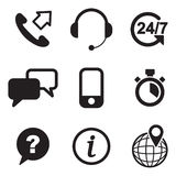 Customer Service Icons Stock Image