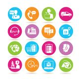 Customer service icons Stock Photography