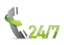 Customer service 24 7 illustration design. Over a white background Stock Photo