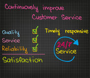 Customer Service improvement Royalty Free Stock Images