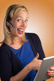 Customer Service Lady Approving Royalty Free Stock Photography