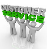 Customer Service - Lifting The Words Royalty Free Stock Image