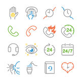 Customer service line icons. Flat Design Vector Illustration: Customer service line icons Royalty Free Stock Image