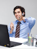 Customer service man Stock Image
