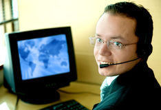 Customer service man Stock Photography