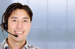 Customer service man in an office Stock Photo