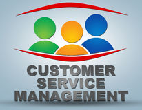 Customer Service Management Stock Photo