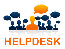 Customer Service Means Help Desk And Advice Royalty Free Stock Photography