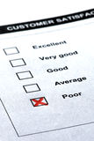 Customer service - negative comment royalty free stock photos