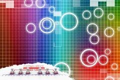Customer Service network concept Illustration Stock Images