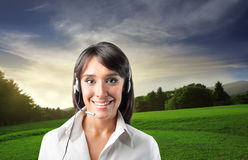 Customer service operator Stock Images