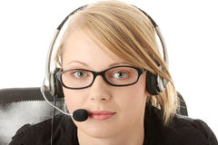 Customer service operator Royalty Free Stock Photo