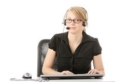 Customer service operator Royalty Free Stock Photos