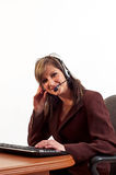 Customer service operator Stock Photos