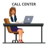 Customer service operator. stock illustration