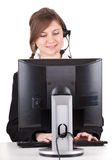 Customer service operator girl in headset Royalty Free Stock Photo