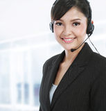 Customer service operator with headset Stock Images