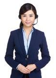 Customer service operator Stock Photo