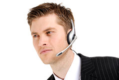 Customer service operator looking away Royalty Free Stock Photo
