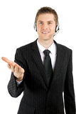 Customer service operator offering help Stock Images