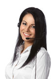 Customer Service Operator White Background. Customer Service Operator Isolated over a White Background Stock Photography