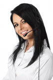 Customer Service Operator White Background Royalty Free Stock Photos