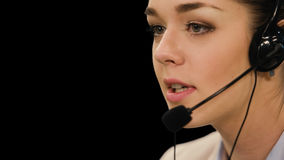Customer service operator woman with headset stock video