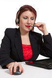 Customer service operator woman with headset Royalty Free Stock Image